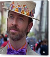 Easter Parade 2011 Straw Hat Acrylic Print