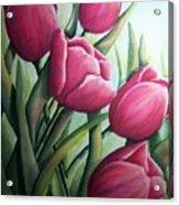 Easter Tulips Acrylic Print