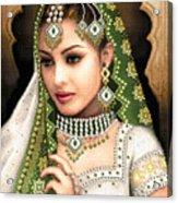 Eastern Beauty In Green Acrylic Print