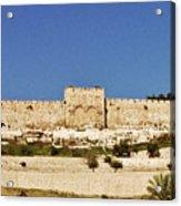 Eastern Gate Temple Mount Acrylic Print