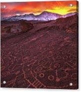 Eastern Sierra Petrolpyh Sunset Acrylic Print
