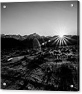 Eastern Sierra Sunset In Monochrome Acrylic Print