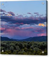 Eastern Sky At Sunset - Taos New Mexico Acrylic Print
