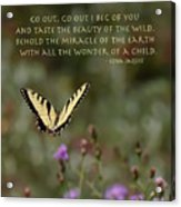 Eastern Tiger Swallowtail Butterfly - The Beauty Of The Wild Acrylic Print