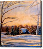 Eastern Townships In Winter Acrylic Print