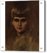 Eastman Johnson 1824-1906 Young Girl Acrylic Print