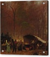 Eastman Johnson - A Different Sugaring Off - Circa 1865 Acrylic Print