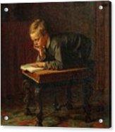 Eastman Johnson - Reading Boy Acrylic Print