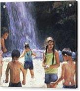 Eaton Canyon Falls Acrylic Print