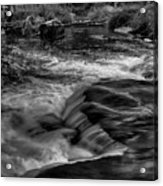 Eau Claire Dells Black And White Flow Acrylic Print