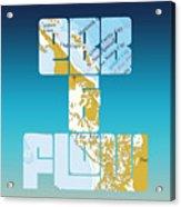 Ebb And Flow Bahamas Acrylic Print