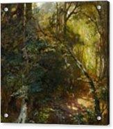 Ebert, Carl 1821 Stuttgart - 1885   Inside A Forest. Acrylic Print