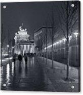 Ebertstrasse And The Brandenburg Gate Acrylic Print