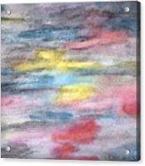 Ebony Rainbow Acrylic Print by Mary Zimmerman