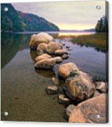 Echo Lake Sunset Acrylic Print by George Oze