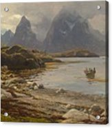 Eckenbrecher, Karl Paul Themistokles Von Athens 1842 - 1921 Goslar Norwegian Fjord Acrylic Print