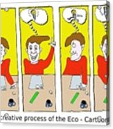 Eco Cartoonist Acrylic Print