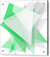Eco Tec Polygon Pattern Acrylic Print