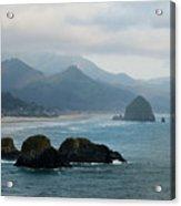 Ecola State Park View Of Haystack Rock And 3 Arch Rocks Acrylic Print