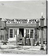 Edcouch Texas Gas Station 1939 Acrylic Print