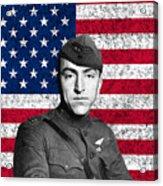 Eddie Rickenbacker And The American Flag Acrylic Print