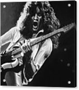 Eddie Van Halen - Black And White Acrylic Print