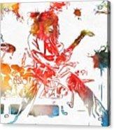 Eddie Van Halen Paint Splatter Acrylic Print