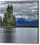 Eddystone Rock In Misty Fjords National Monument Acrylic Print