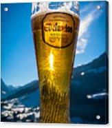 Edelweiss Beer In Kirchberg Austria Acrylic Print