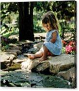 90140 Eden Joy Srf Garden Acrylic Print