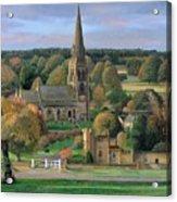 Edensor - Chatsworth Park - Derbyshire Acrylic Print