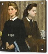 Edgar Degas - The Bellelli Sisters Giovanna And Giuliana Bellelli Acrylic Print