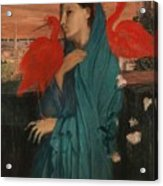 Edgar Degas - Young Woman With Ibis - 1860-1862 Acrylic Print