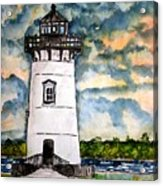 Edgartown Lighthouse Martha's Vineyard Mass Acrylic Print