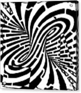 Edge Of A Mobius Strip Maze Acrylic Print