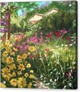 Edie's Garden Acrylic Print