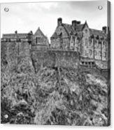 Edinburgh Castle Bw Acrylic Print