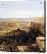 Edinburgh From The Castle Acrylic Print