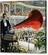 Edison Phonograph Ad, 1899 Acrylic Print by Granger