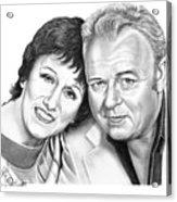 Edith And Archie Bunker Acrylic Print by Murphy Elliott