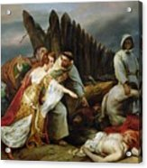 Edith Finding The Body Of Harold Horace Vernet Acrylic Print