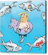 Editorial Cartoonist Acrylic Print