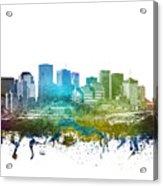 Edmonton Cityscape 01 Acrylic Print