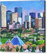 Edmonton Pyramids in Summer Acrylic Print