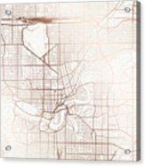 Edmonton Street Map Colorful Copper Modern Minimalist Acrylic Print