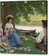 Edmund Blair Leighton 1852-1922 A Picnic Party Acrylic Print