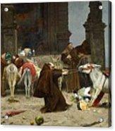 Eduardo Zamacois Y Zabala , Returning To The Monastery 1868 Acrylic Print