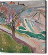 Edvard Munch , Landscape, Kragero Acrylic Print