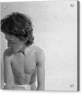 Edward Acker Portrait In Profile Acrylic Print