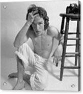 Edward Acker Portrait With Stool Acrylic Print